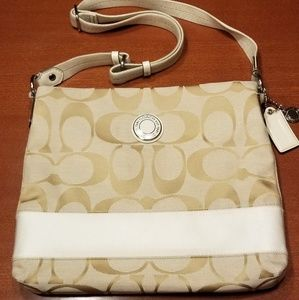 EUC- AUTHENTIC COACH Monogram Crossbody Bag